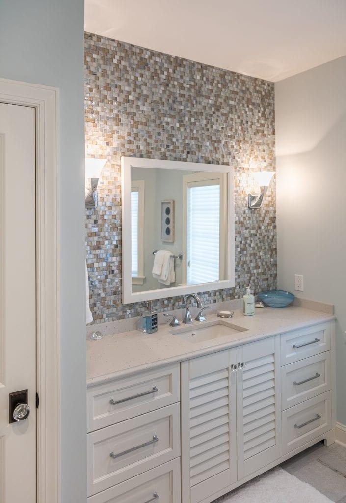Built-in Bathroom Shutter Cabinets