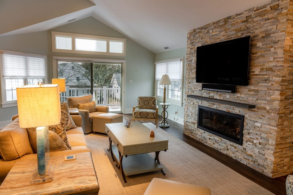 TV/Fireplace Custom Tiled Wall