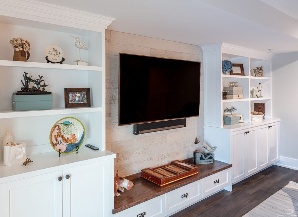 Built-in Shelving, Cabinets with Seat