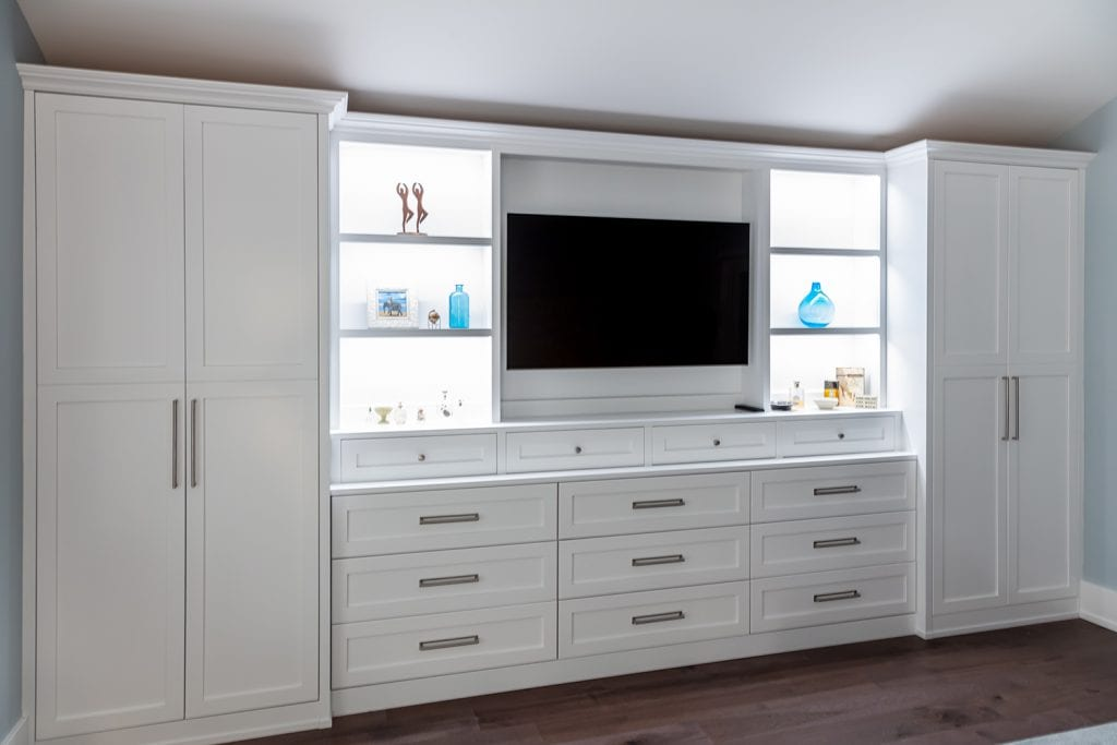 Lighted Built in TV Cabinet