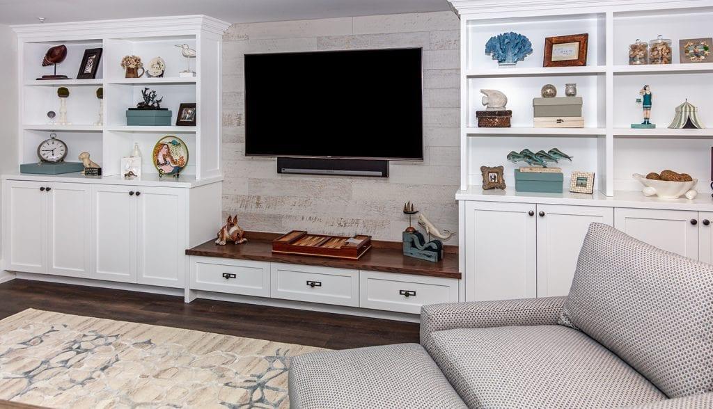 Built-in TV Shelving