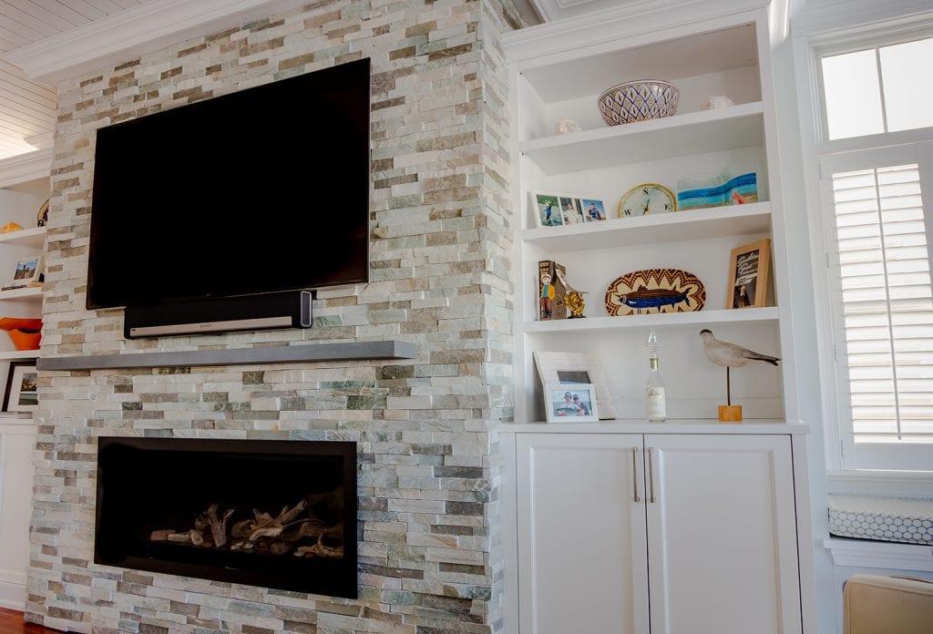 Fireplace - Cabinet - Custom Tiled