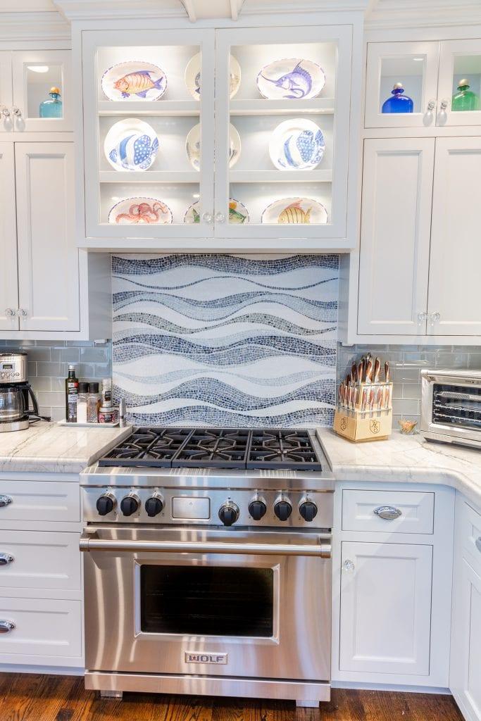 Kitchen Lighted Cabinets/Custom Backsplash