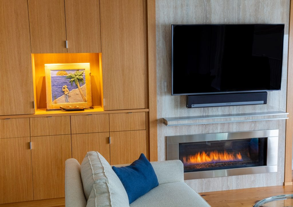 TV/Fireplace Custom made Cabinetry