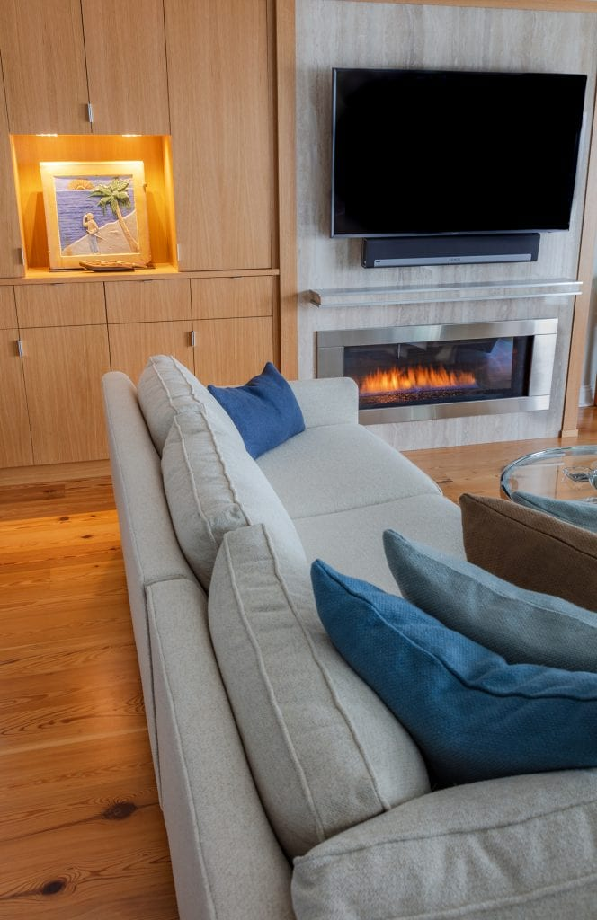Custom Cabinets, Fireplace