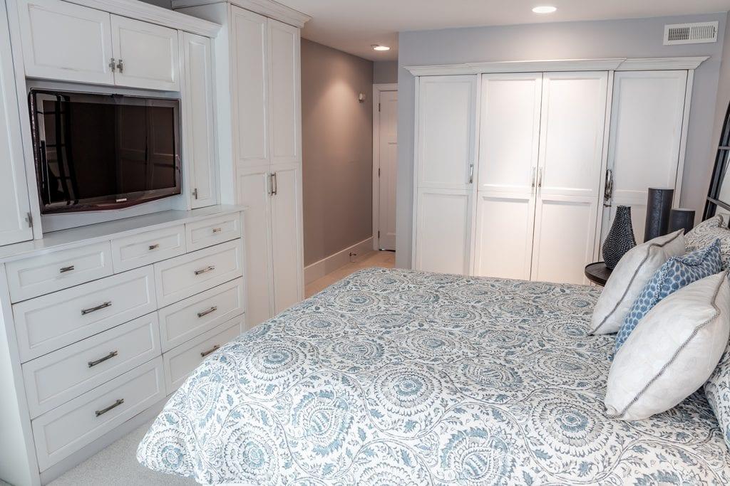 TV Bedroom Custom Cabinets