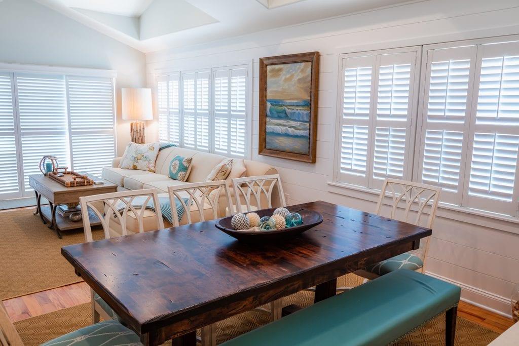 Custom Blinds Living Room