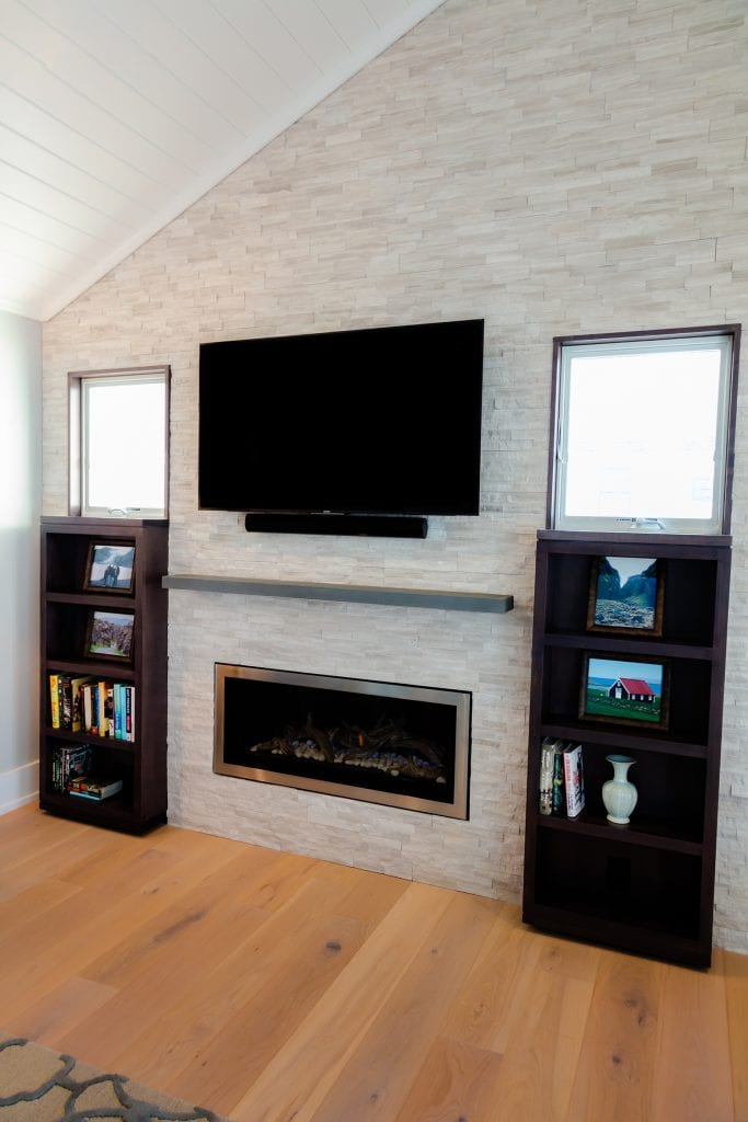 Living Room Fireplace, Custom Ceiling