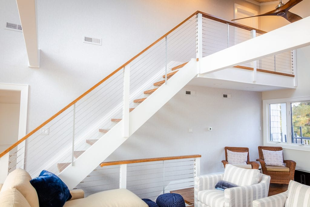Wire Railing Staircase