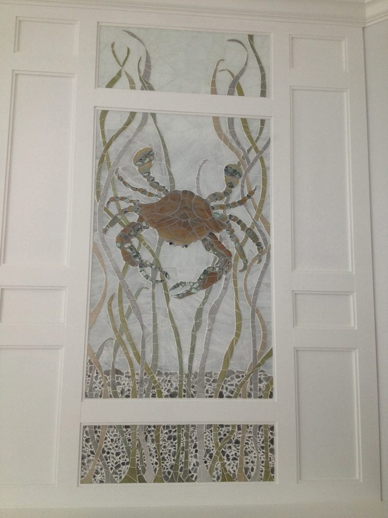 Custom Crab Tile Mosaic