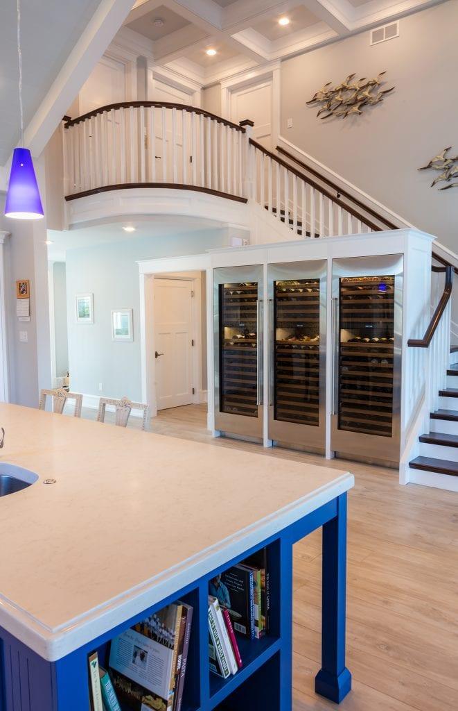 Under Stairway Climate Wine Storage