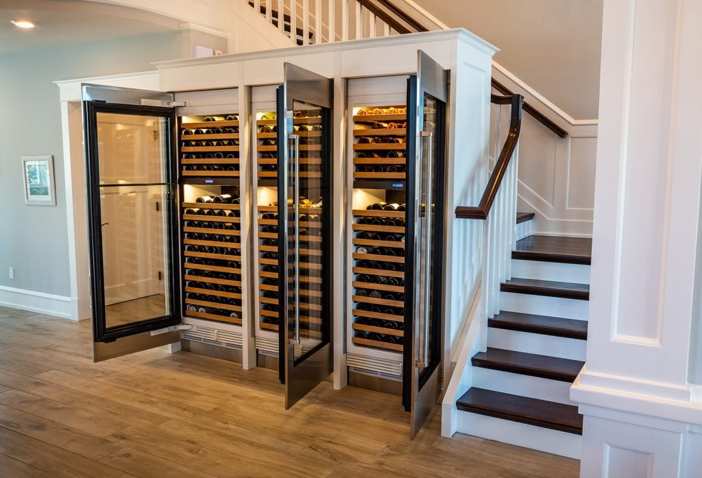 Flooring in front of Wine Fridge
