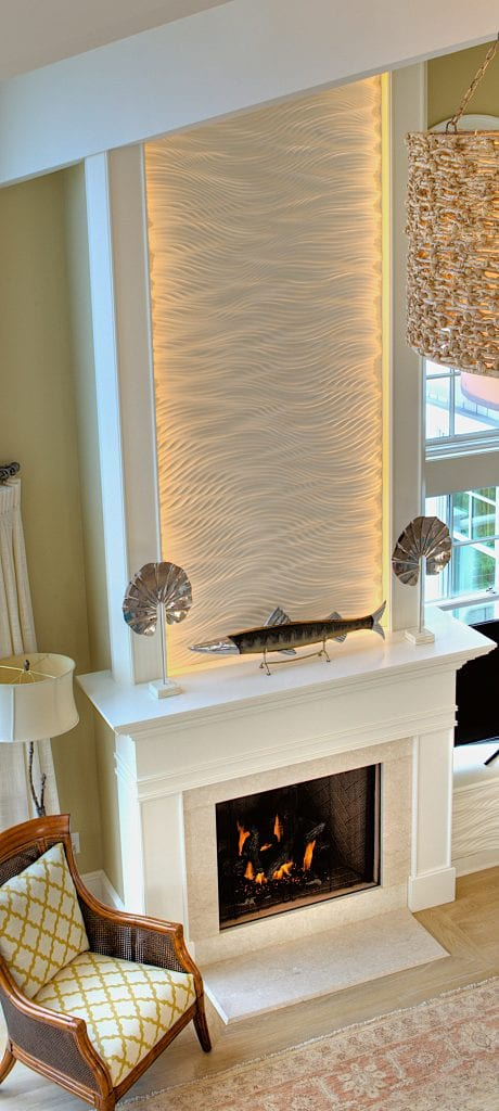 Lighted Waterfall Tile Fireplace