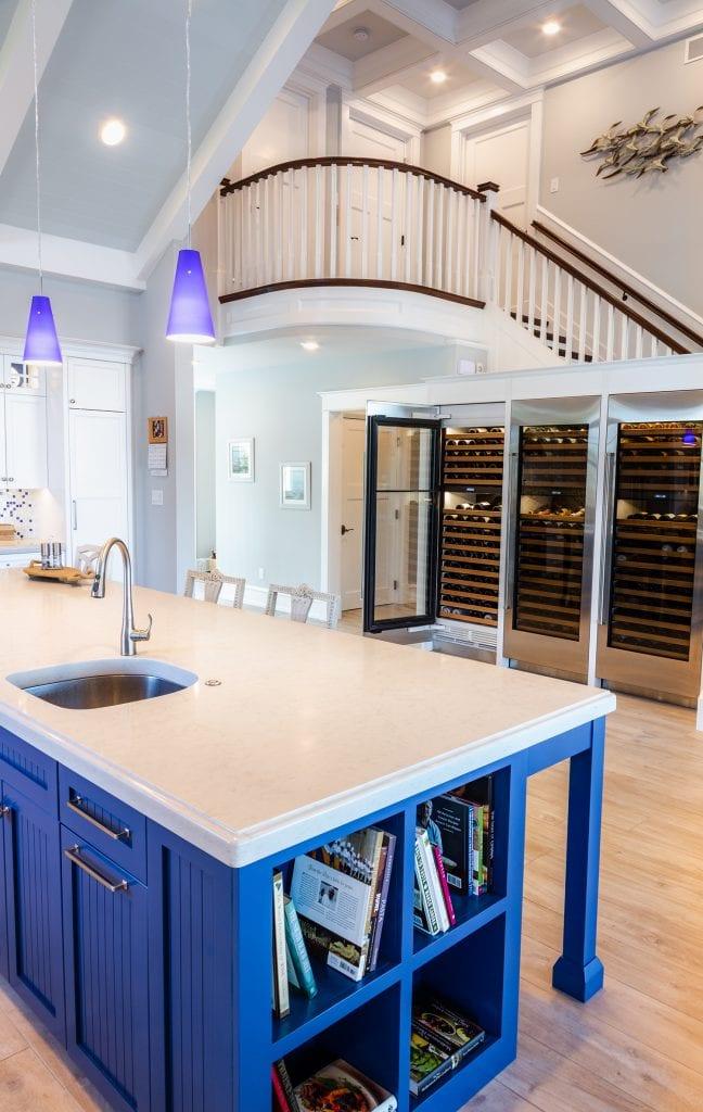 Custom Under Staircase Wine Storage Units